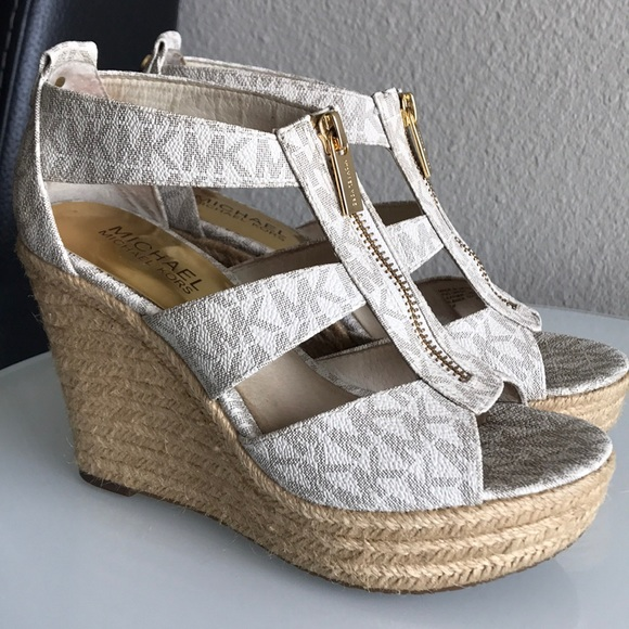 48c4c6fd4c9e Michael Kors Damita Wedge in Vanilla. M 5ab01564739d48665acc6b45. Other  Shoes ...